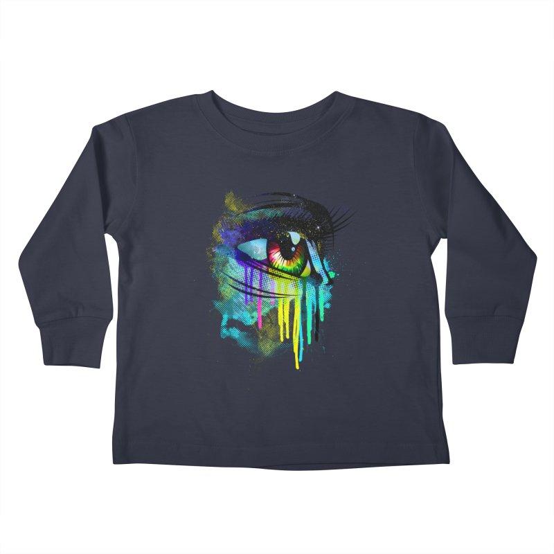 Tears of Colors Kids Toddler Longsleeve T-Shirt by moncheng's Artist Shop