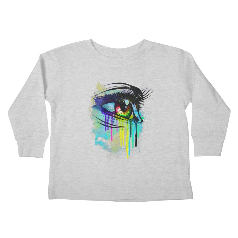 Tears of Colors Kids Toddler Longsleeve T-Shirt by moncheng's Artist Shop