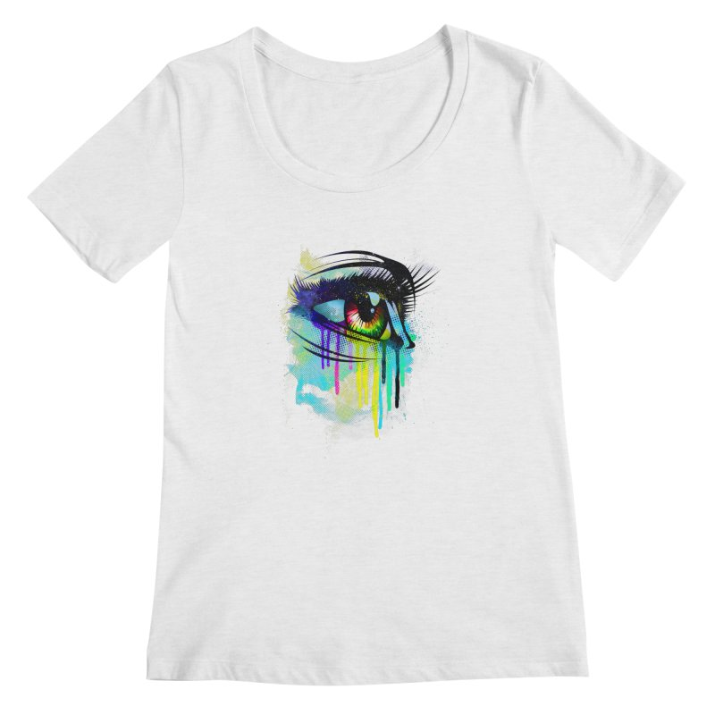 Tears of Colors Women's Regular Scoop Neck by moncheng's Artist Shop