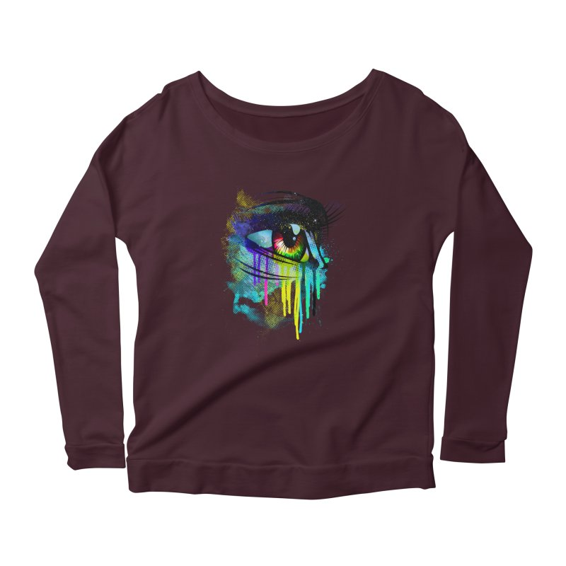 Tears of Colors Women's Scoop Neck Longsleeve T-Shirt by moncheng's Artist Shop