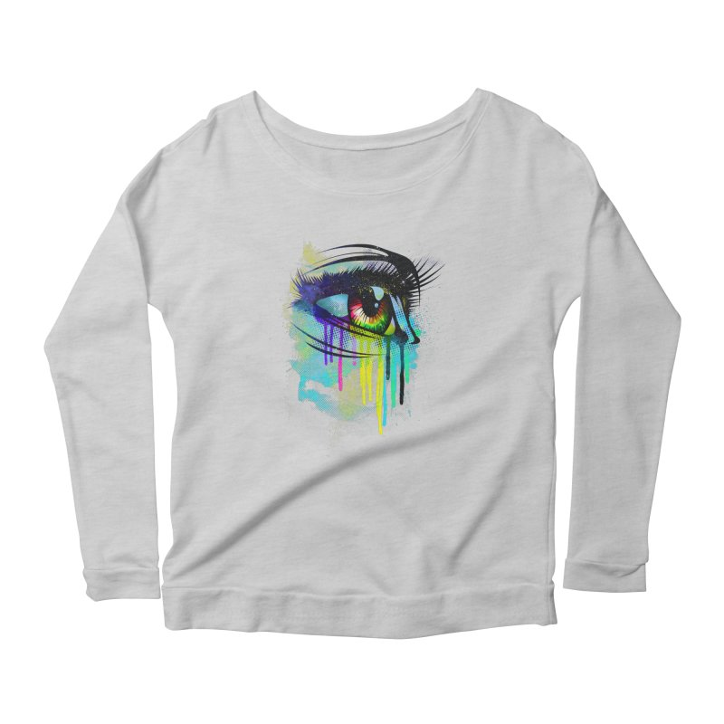 Tears of Colors Women's Longsleeve Scoopneck  by moncheng's Artist Shop