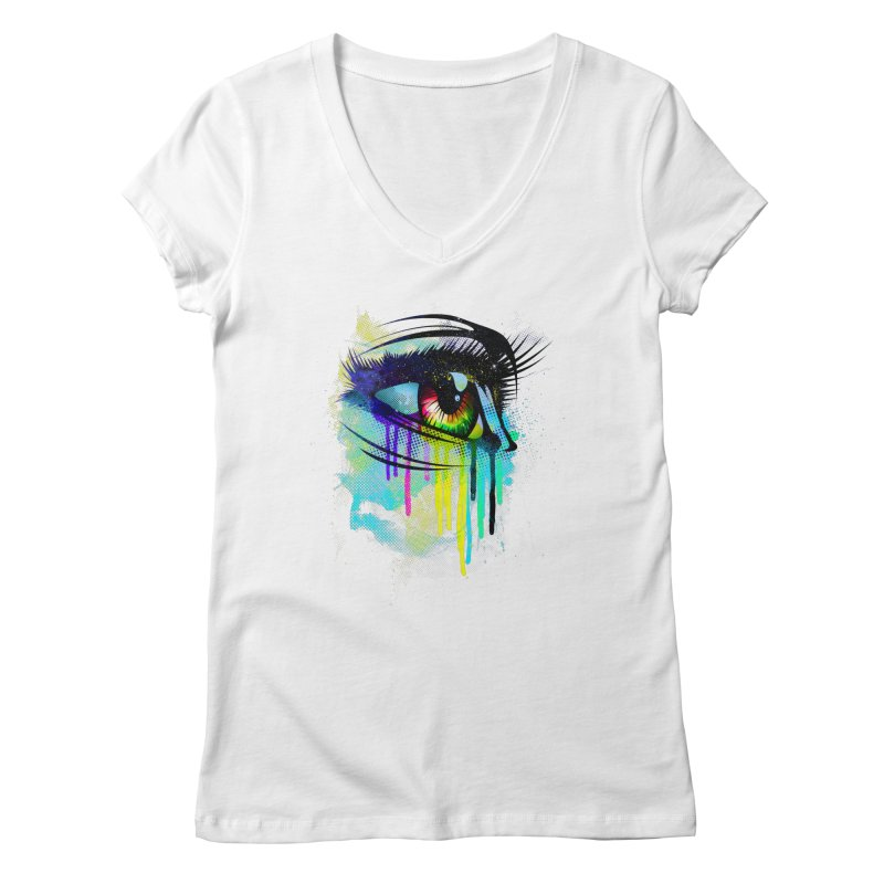 Tears of Colors Women's V-Neck by moncheng's Artist Shop