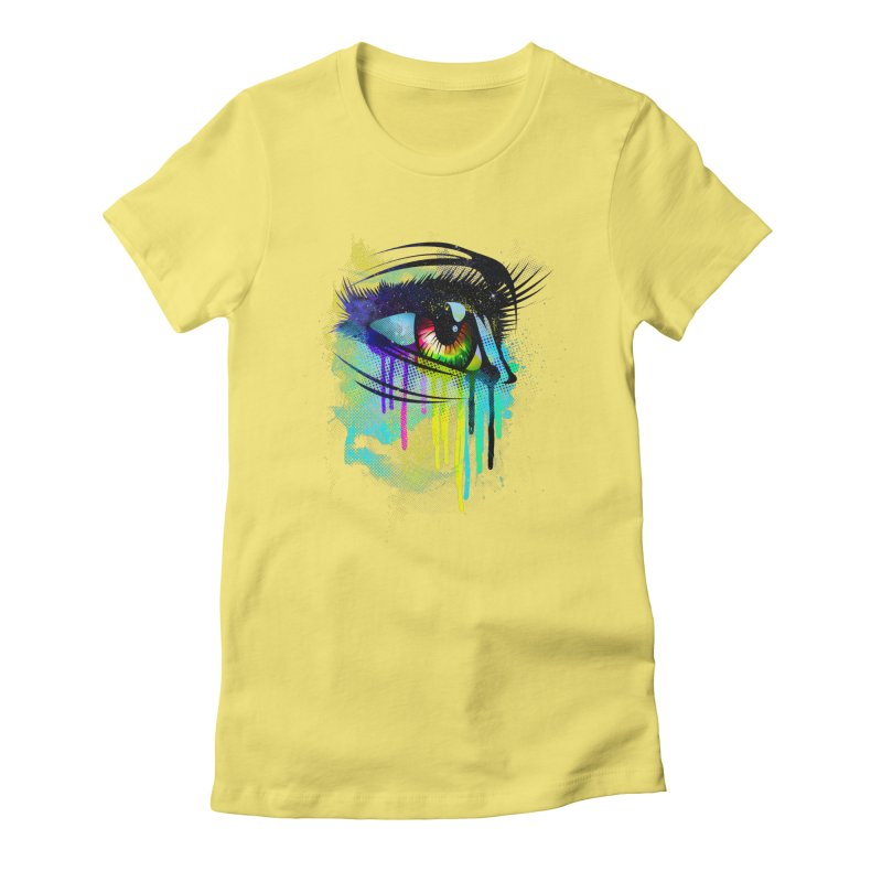 Tears of Colors Women's Fitted T-Shirt by moncheng's Artist Shop