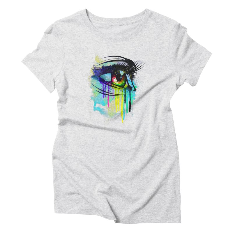 Tears of Colors Women's Triblend T-Shirt by moncheng's Artist Shop
