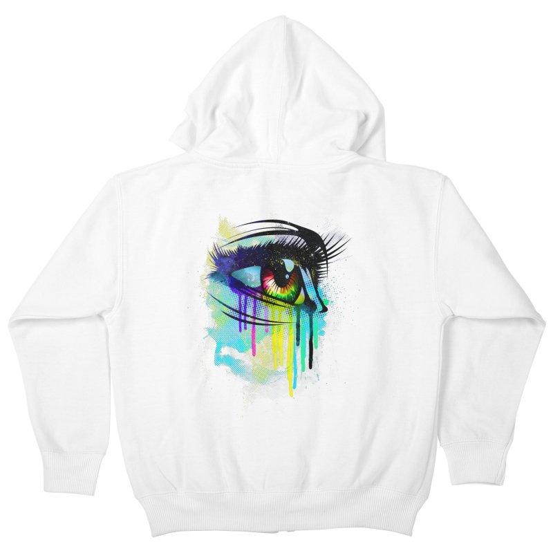 Tears of Colors Kids Zip-Up Hoody by moncheng's Artist Shop