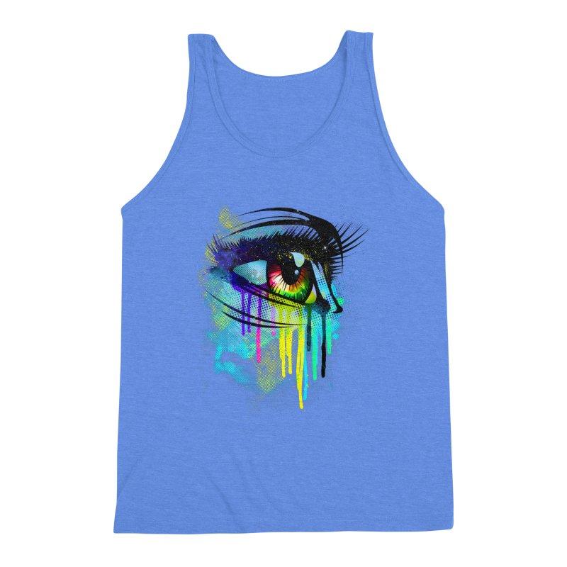 Tears of Colors Men's Triblend Tank by moncheng's Artist Shop