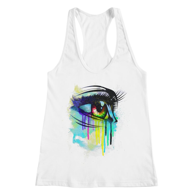 Tears of Colors Women's Racerback Tank by moncheng's Artist Shop