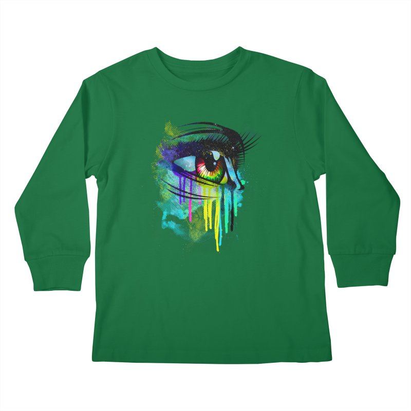 Tears of Colors Kids Longsleeve T-Shirt by moncheng's Artist Shop