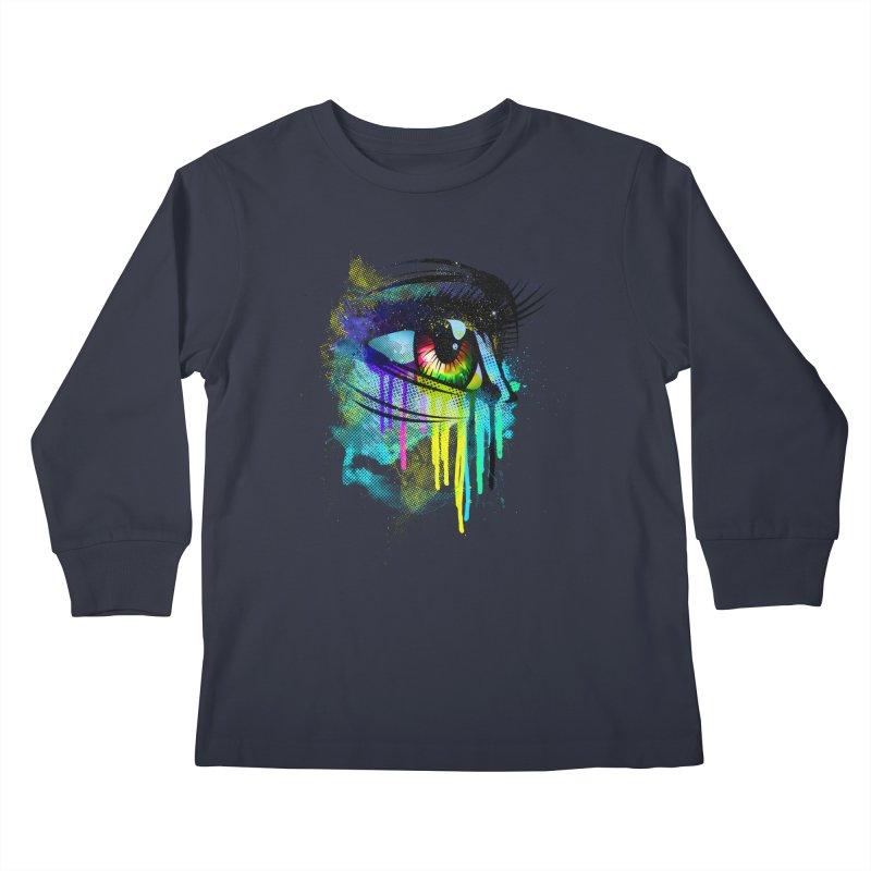 Tears of Colors Kids Longsleeve T-Shirt by moncheng's Artist Shop