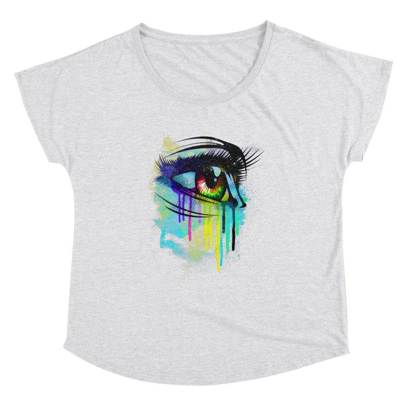 Tears of Colors Women's Scoop Neck by moncheng's Artist Shop