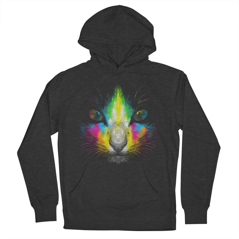 Technicolor Cat Men's French Terry Pullover Hoody by moncheng's Artist Shop