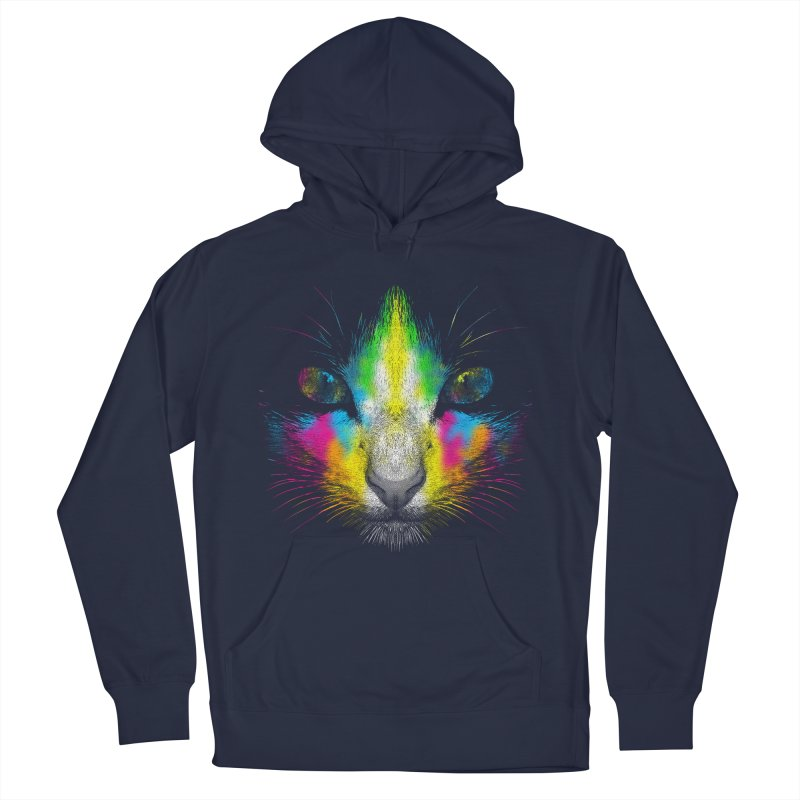 Technicolor Cat Men's Pullover Hoody by moncheng's Artist Shop