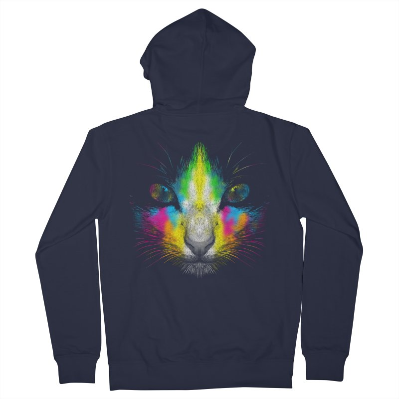 Technicolor Cat Women's French Terry Zip-Up Hoody by moncheng's Artist Shop