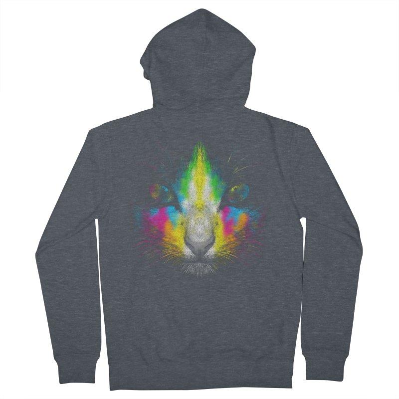 Technicolor Cat Men's French Terry Zip-Up Hoody by moncheng's Artist Shop