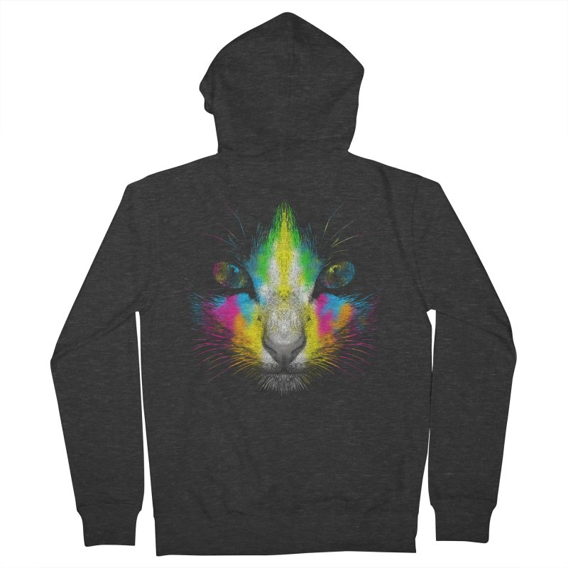 Technicolor Cat Men's Zip-Up Hoody by moncheng's Artist Shop