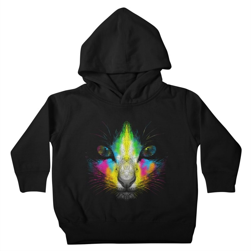 Technicolor Cat Kids Toddler Pullover Hoody by moncheng's Artist Shop