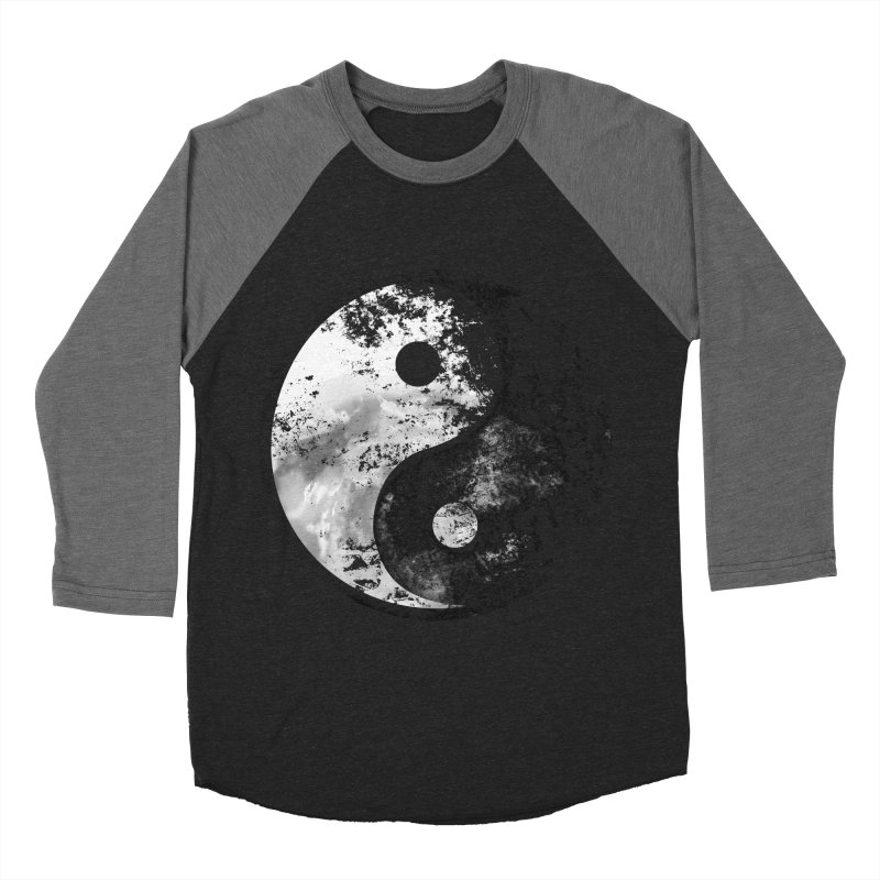 Yin Yang Men's Baseball Triblend T-Shirt by moncheng's Artist Shop