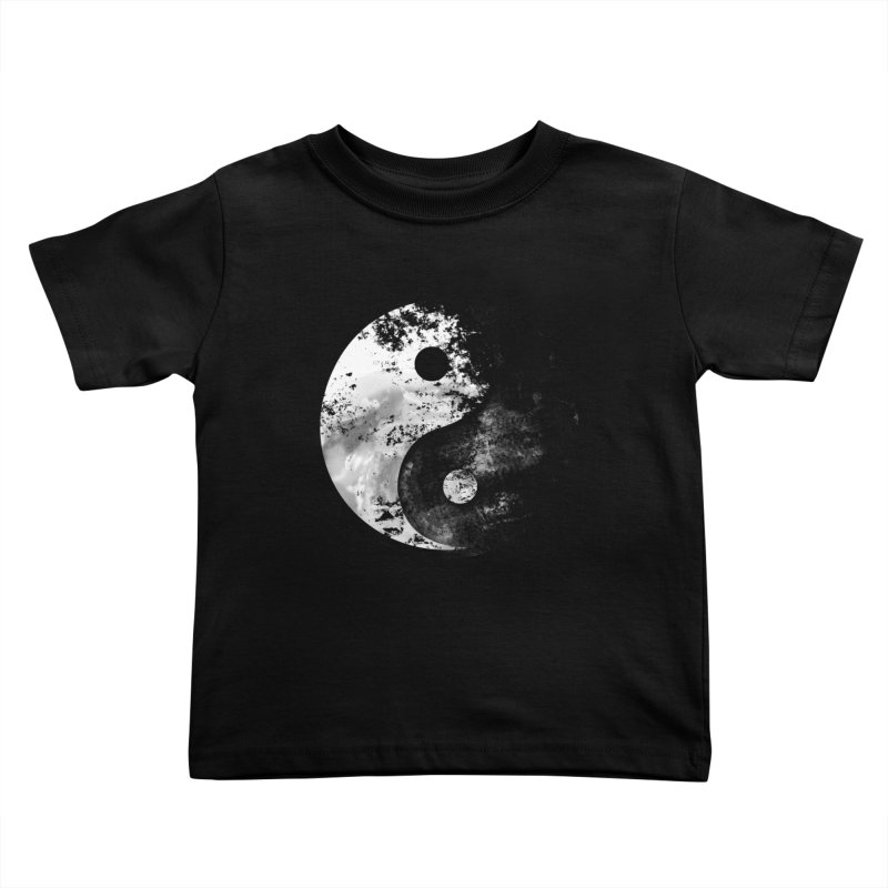 Yin Yang Kids Toddler T-Shirt by moncheng's Artist Shop