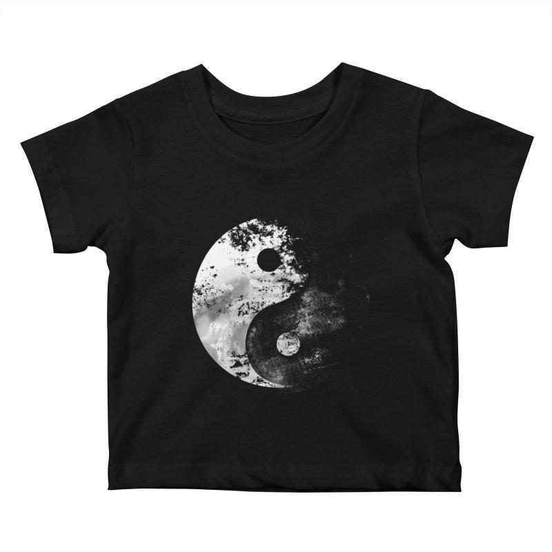 Yin Yang Kids Baby T-Shirt by moncheng's Artist Shop