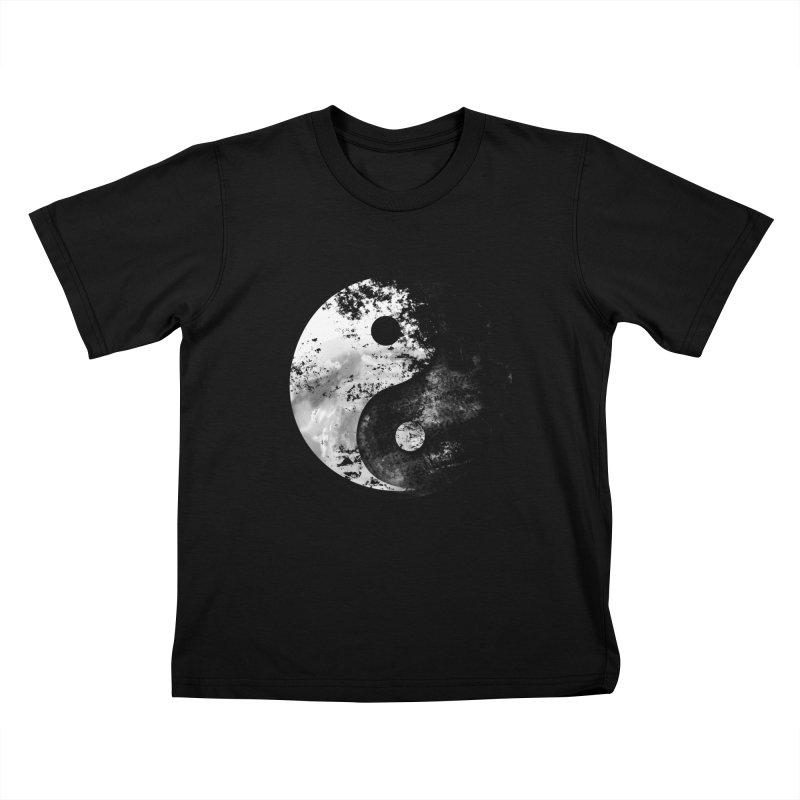 Yin Yang Kids Toddler T-Shirt by moncheng's Artist Shop