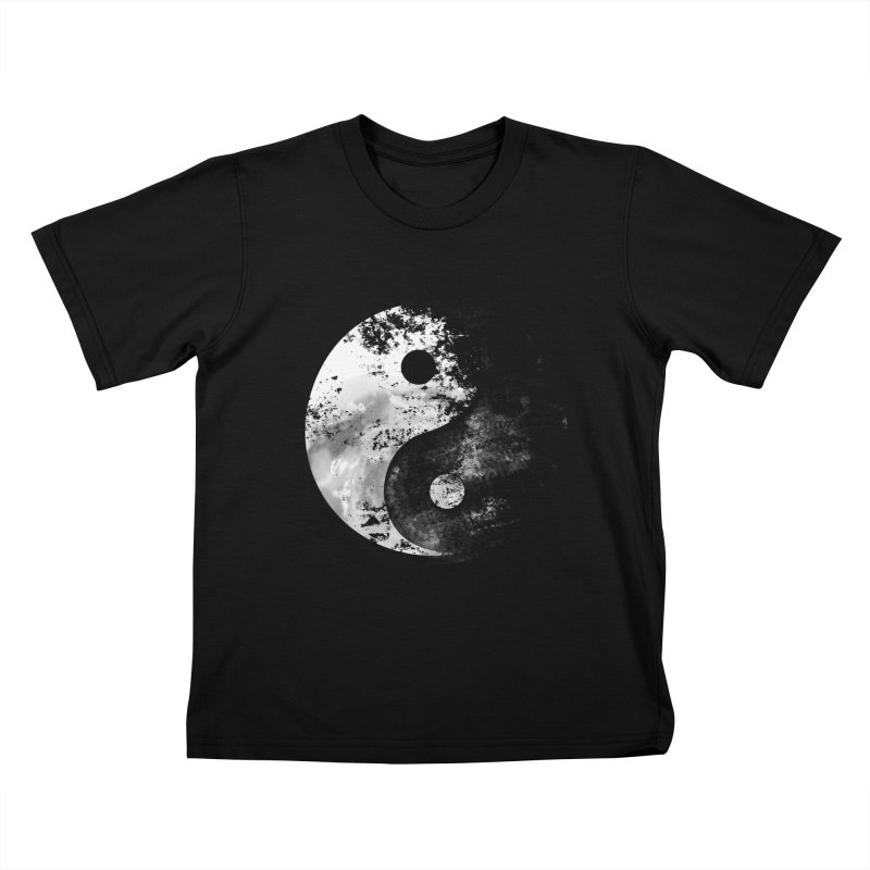 Yin Yang Kids T-Shirt by moncheng's Artist Shop