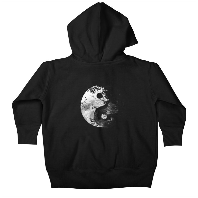 Yin Yang Kids Baby Zip-Up Hoody by moncheng's Artist Shop