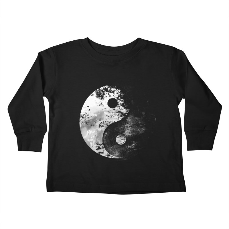 Yin Yang Kids Toddler Longsleeve T-Shirt by moncheng's Artist Shop