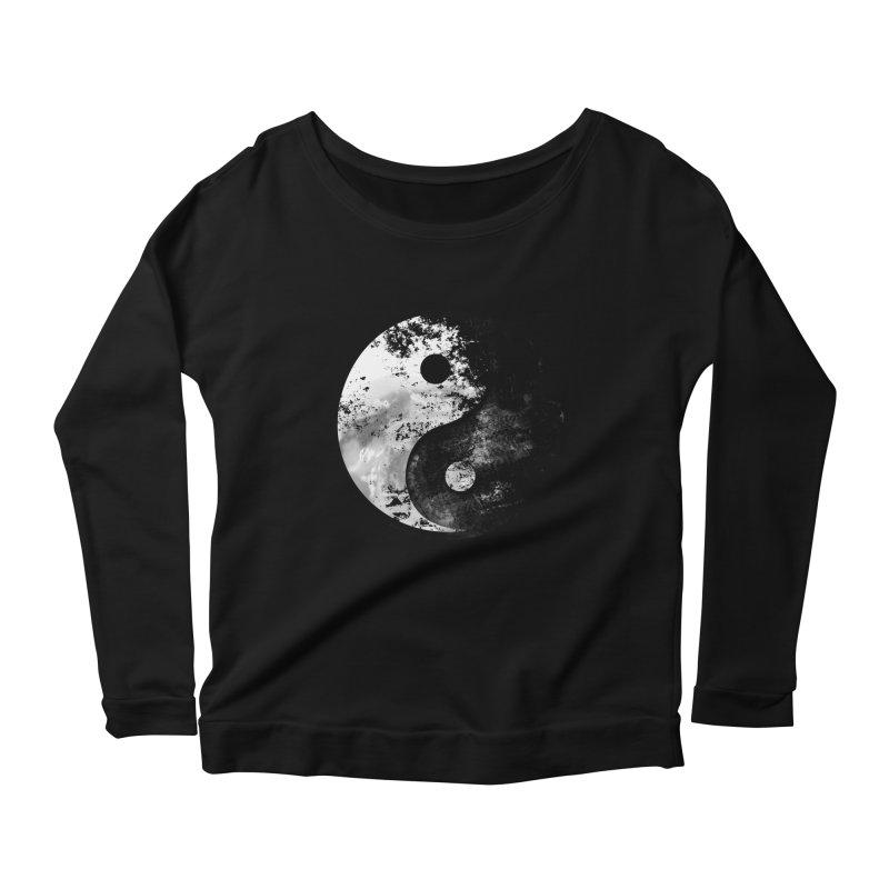 Yin Yang Women's Scoop Neck Longsleeve T-Shirt by moncheng's Artist Shop