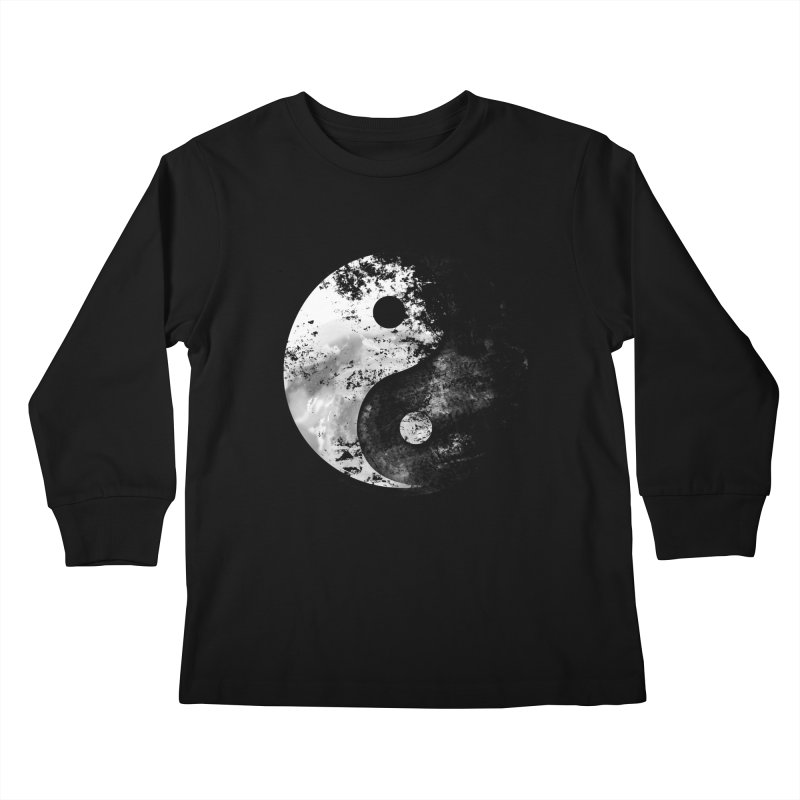 Yin Yang Kids Longsleeve T-Shirt by moncheng's Artist Shop