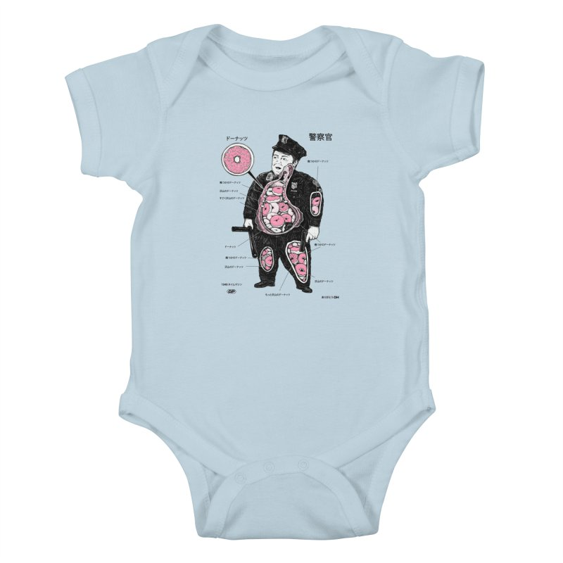 Anatomy Kids Baby Bodysuit by Andy Pitts Artist Shop