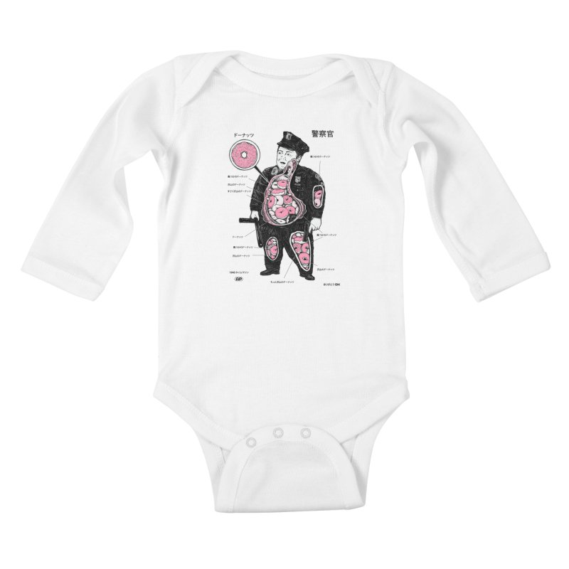 Anatomy Kids Baby Longsleeve Bodysuit by Andy Pitts Artist Shop