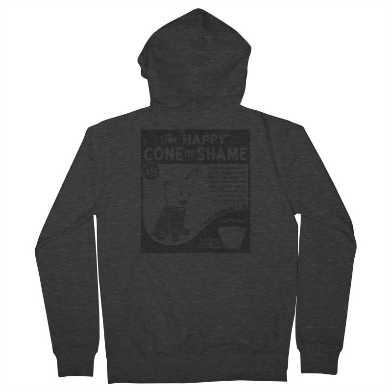 The Happy Cone of Shame Women's Zip-Up Hoody by Andy Pitts Artist Shop