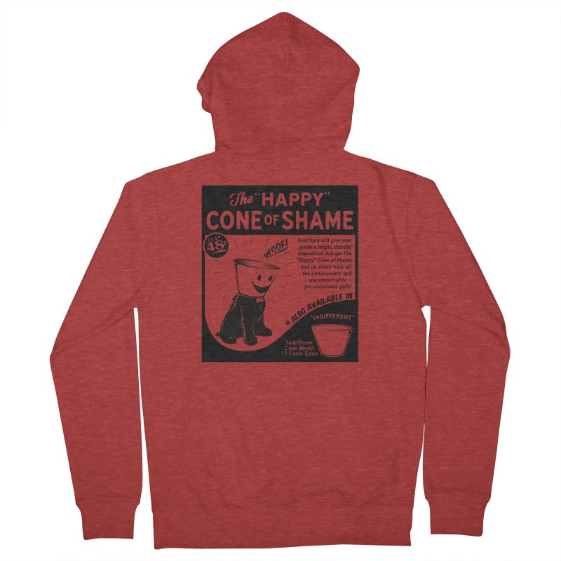 The Happy Cone of Shame Men's Zip-Up Hoody by Andy Pitts Artist Shop