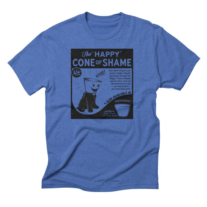 The Happy Cone of Shame Men's Triblend T-Shirt by Andy Pitts Artist Shop