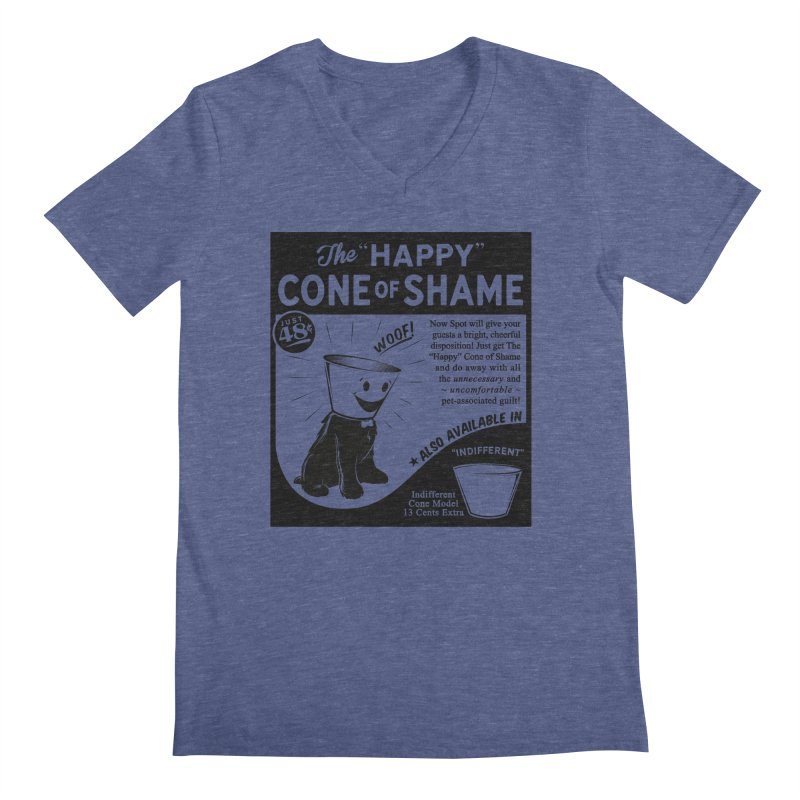 The Happy Cone of Shame Men's V-Neck by Andy Pitts Artist Shop