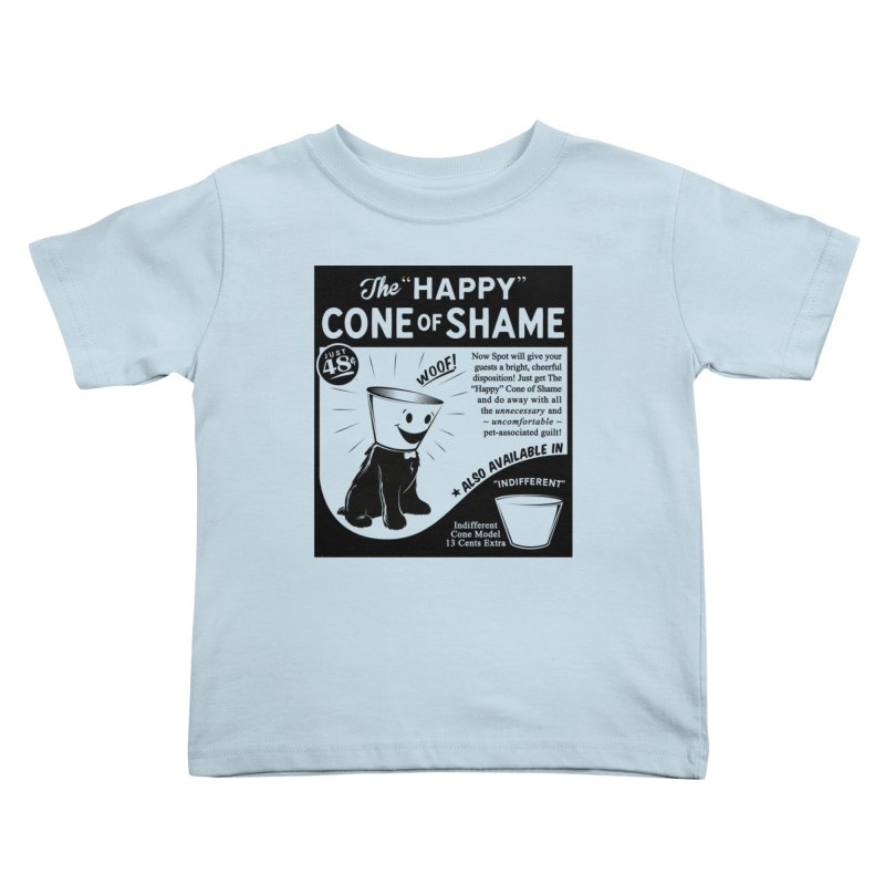 The Happy Cone of Shame Kids Toddler T-Shirt by Andy Pitts Artist Shop
