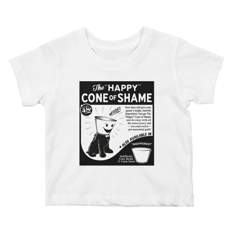 The Happy Cone of Shame Kids Baby T-Shirt by Andy Pitts Artist Shop