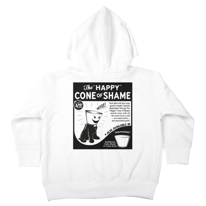 The Happy Cone of Shame Kids Toddler Zip-Up Hoody by Andy Pitts Artist Shop