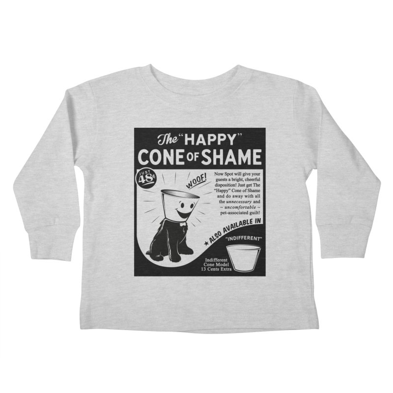 The Happy Cone of Shame Kids Toddler Longsleeve T-Shirt by Andy Pitts Artist Shop