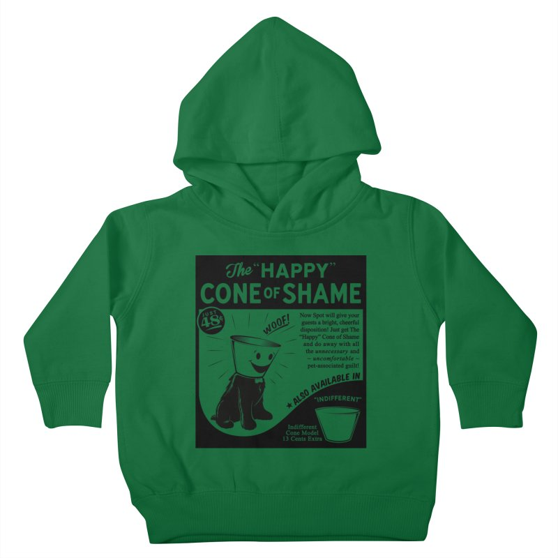 The Happy Cone of Shame Kids Toddler Pullover Hoody by Andy Pitts Artist Shop