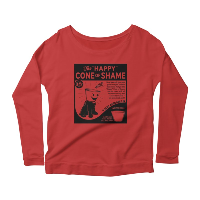 The Happy Cone of Shame Women's Longsleeve Scoopneck  by Andy Pitts Artist Shop