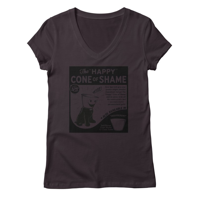 The Happy Cone of Shame Women's V-Neck by Andy Pitts Artist Shop