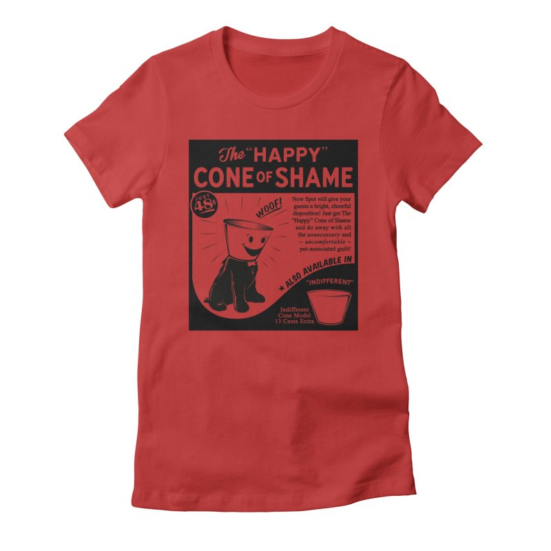 The Happy Cone of Shame Women's Fitted T-Shirt by Andy Pitts Artist Shop