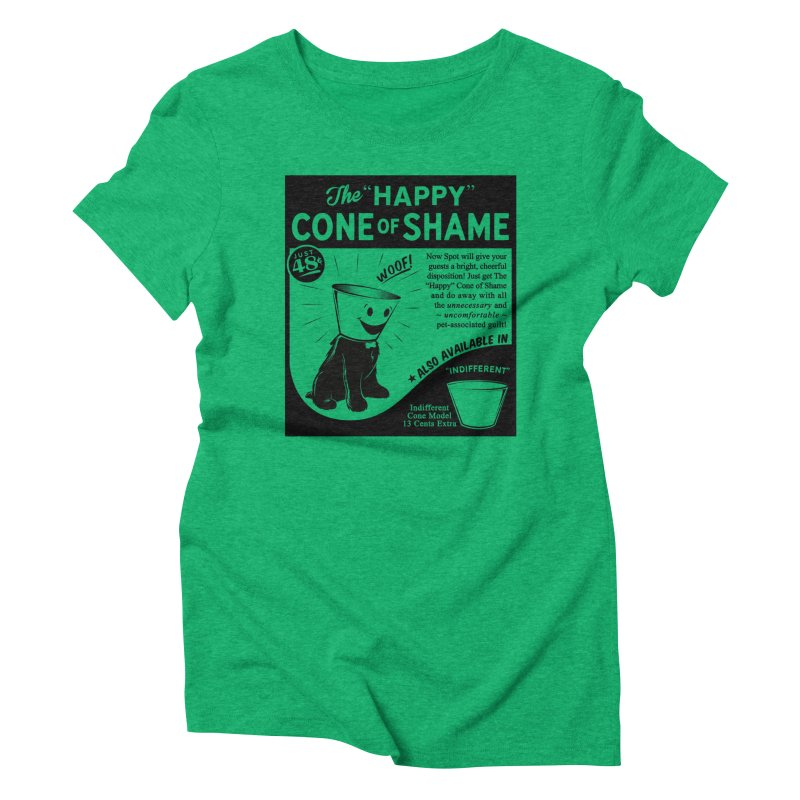 The Happy Cone of Shame Women's Triblend T-shirt by Andy Pitts Artist Shop