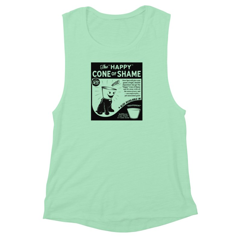 The Happy Cone of Shame Women's Muscle Tank by Andy Pitts Artist Shop
