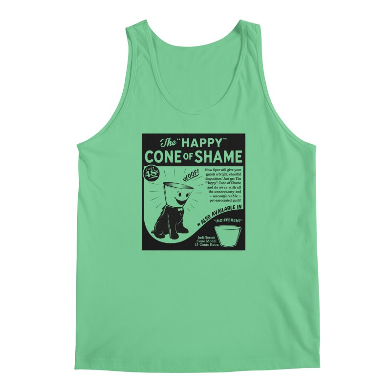 The Happy Cone of Shame Men's Tank by Andy Pitts Artist Shop