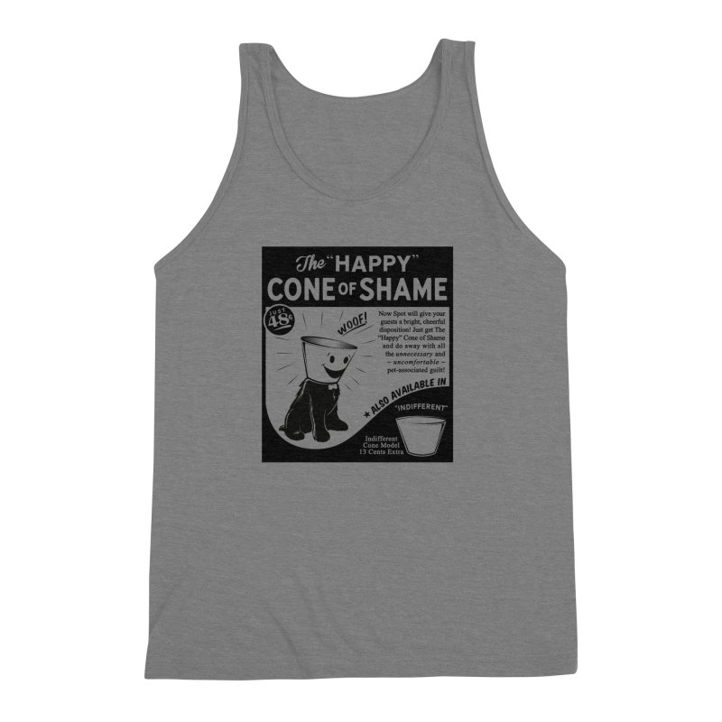 The Happy Cone of Shame Men's Triblend Tank by Andy Pitts Artist Shop
