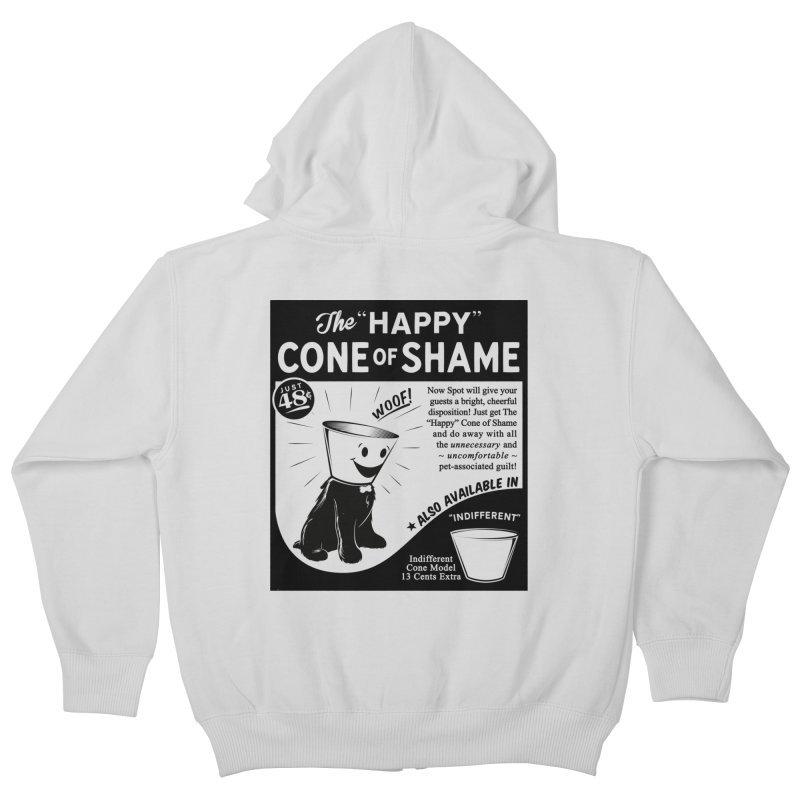 The Happy Cone of Shame Kids Zip-Up Hoody by Andy Pitts Artist Shop