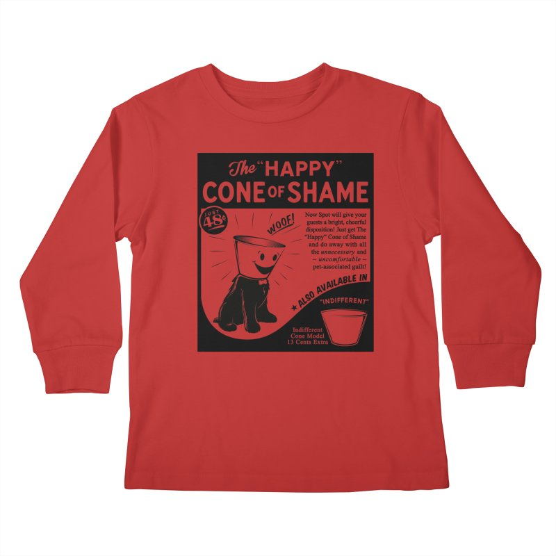 The Happy Cone of Shame Kids Longsleeve T-Shirt by Andy Pitts Artist Shop