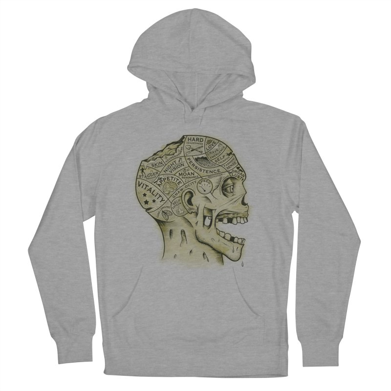 Zombie Phrenology Women's Pullover Hoody by Andy Pitts Artist Shop